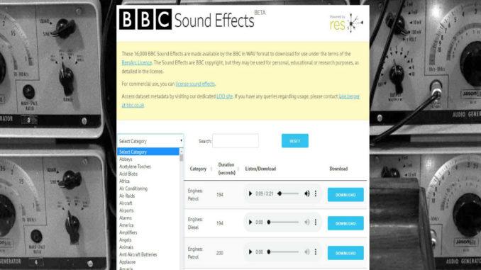 ηχητικά εφέ του BBC